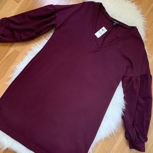 NWT Express Maroon Long Sleeve Dress